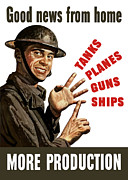 Military Production Posters - Good News From Home More Production Poster by War Is Hell Store