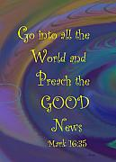 News Mixed Media Posters - Good News Poster by Trish Jenkins