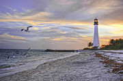 Edge Prints - Good Night Cape Florida Lighthouse Print by Photo taken by Crawford A. Wilson III