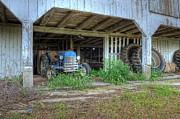 Tractor Photos - Good Old Blue by Pamela Baker
