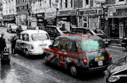 Color Pencil Digital Art - Good old London Cab by Stefan Kuhn
