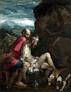 Samaritan Paintings - Good Samaritan by Jacopo Bassano