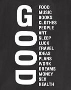 Good Things Print by Linda Woods