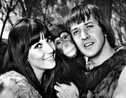 Sonny Bono Prints - Good Times, Cher, Sonny Bono, On Set Print by Everett