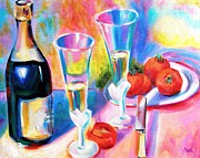 Champagne Paintings - Good Times Will Come Again by Susi Franco