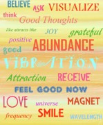 Law Of Attraction Prints - Good Vibration Print by D Perry