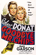 Robert Wood Framed Prints - Goodbye, Mr. Chips, Robert Donat, Greer Framed Print by Everett