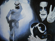 Famous Faces Painting Originals - Goodbye Mr. Jackson by Chelle Brantley