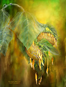Sunflower Art Posters - Goodbye Sunshine Poster by Carol Cavalaris