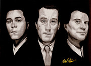 Pencil Sketch Mixed Media Prints - Goodfellas Print by Michael Mestas