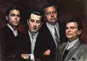 Family Pastels Framed Prints - Goodfellas Framed Print by Ylli Haruni