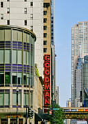 Iconic Structures Prints - Goodman Memorial Theatre Chicago Print by Christine Till