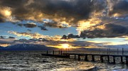 "\""sunset Photography\\\"" Framed Prints - Goodnight Lake Tahoe Framed Print by Brad Scott"
