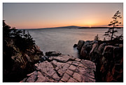 Maine Sunset Framed Prints - Goodnight Ravens Nest Framed Print by Chad Tracy