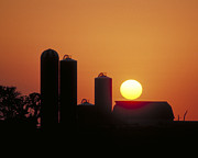 Silos Posters - Goodoboys Sunset Poster by Garry McMichael