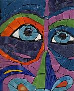 Unique Glass Art Posters - Goofy - Fantasy Face No.6 Poster by Gila Rayberg