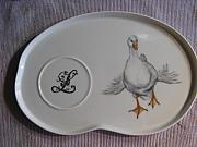 Wild Animals Ceramics - Goos Breakfast Plate with cup by Fleurlise