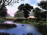 Geese Digital Art - Goose pond by Robert Foster