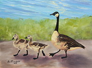 Geese Paintings - Goose Step by Alan Mager