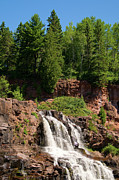 Lake Superior Photos - Gooseberry Falls by Steve Stuller