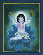 Gopala Paintings - Gopala by Radha Flora Cloud