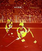 Hockey Painting Prints - Gophers Print by Yack Hockey Art