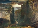 1859 Painting Metal Prints - Gordale Scar Metal Print by James Ward