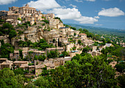 Provence Photos - Gordes Hill Town in Provence by Inge Johnsson