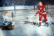 Hockey Paintings - Gordie by Blair  Haynes