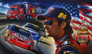 Nascar Paintings - Gordon by Dan Hatala