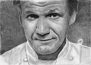 Parchment Drawings Prints - Gordon Ramsay Print by Bianca Ferrando