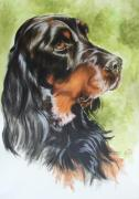 Sporting Group Framed Prints - Gordon Setter Framed Print by Barbara Keith