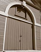 Waltham Prints - Gore Barn Door Print by Heather Weikel