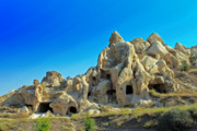 Moonscape Framed Prints - Goreme Cave Churches Framed Print by Angela Siener
