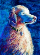 Best Pastel Pastels Framed Prints - Gorge Dog Framed Print by Lynee Sapere