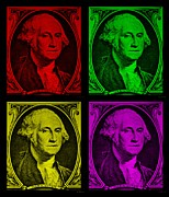U S Founding Father Prints - GORGE WASHINGTON in COLORS Print by Rob Hans