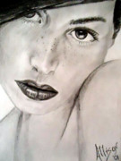 Feminine Drawings Originals - Gorgeous by Allison Jones