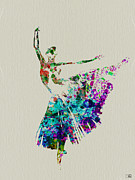 Silhouette Painting Metal Prints - Gorgeous Ballerina Metal Print by Irina  March