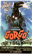 1960s Poster Art Photo Framed Prints - Gorgo, French Poster Art, 1961 Framed Print by Everett
