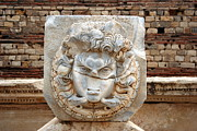 Gorgon Photo Prints - Gorgon At Leptis Magna, Libya Print by Joe & Clair Carnegie / Libyan Soup