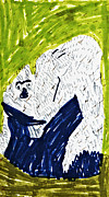 Gorilla Drawings - Gorilla with Child by Stephanie Ward