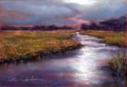 Nj Pastels - Goshen Marsh Autum by Peter R Davidson