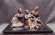 Group Sculptures - Gossip by Shohini Ghosh