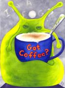 Humor. Paintings - Got Coffee by Catherine G McElroy