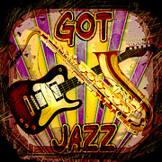 Got Jazz Abstract Print by David G Paul