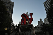 Love Park Framed Prints - Got Love All Backwards Framed Print by Bill Cannon
