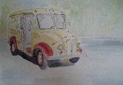 Transportation Paintings - Got Milk by Nevaeh Originals