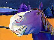 Horse  Paintings - Got Oats      by Pat Saunders-White