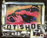 Folk Art Mixed Media - Got Shoes by Robert Wolverton Jr