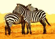 Zebra Digital Art - Got Your Back by Nilla Haluska